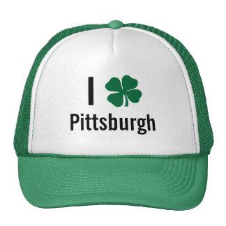 I love (shamrock) Pittsburgh St Patricks Day Cap