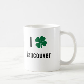 I love (shamrock) Vancouver St Patricks Day Coffee Mug