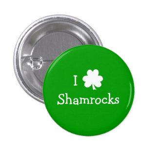 I Love Shamrocks Button