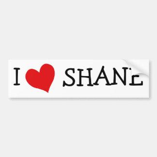 I Love Shane Bumper Sticker