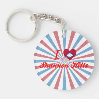 I Love Shannon Hills Arkansas Acrylic Keychain