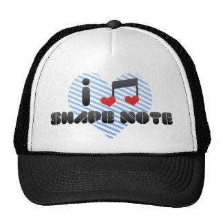 I Love Shape Note Mesh Hat
