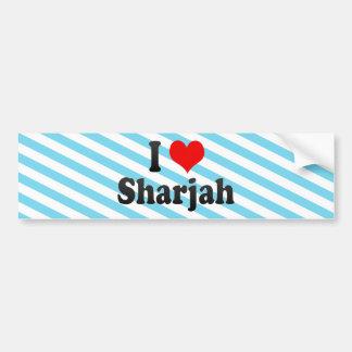 I Love Sharjah, United Arab Emirates Bumper Sticker