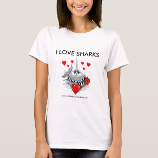 I love shark woman's tshirt