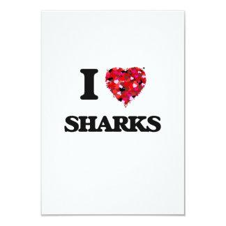 I love Sharks 9 Cm X 13 Cm Invitation Card