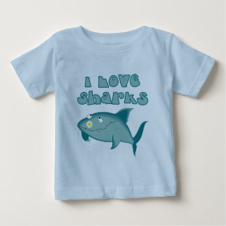 I Love Sharks Baby T-Shirt
