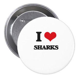 I Love Sharks 7.5 Cm Round Badge