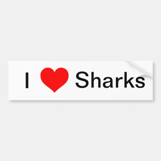 I Love Sharks Bumper Sticker