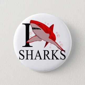 I Love Sharks Buttons