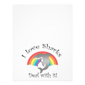 I love sharks deal with it! 21.5 cm x 28 cm flyer