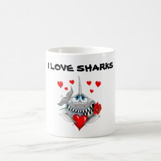 I love sharks fun mug! coffee mug