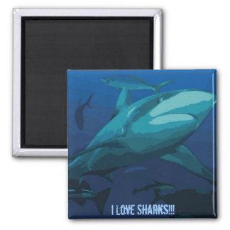 I Love Sharks Magnet