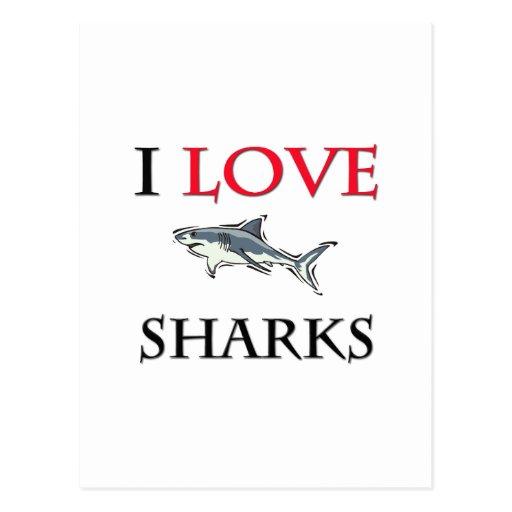 I Love Sharks Postcards