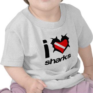I Love Sharks T-Shirt Design