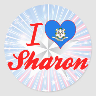 I Love Sharon, Connecticut Stickers
