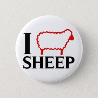 I Love Sheep 6 Cm Round Badge