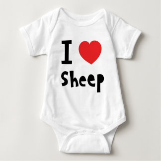 I love sheep baby bodysuit