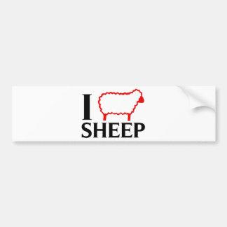 I Love Sheep Bumper Sticker