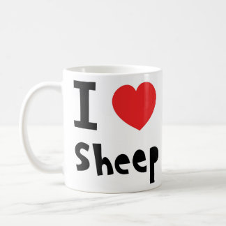 I love sheep coffee mug