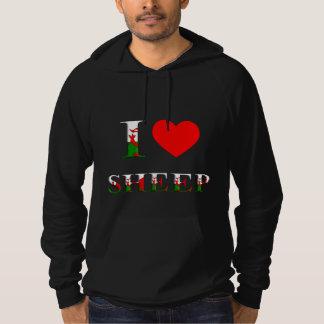 I Love Sheep Hoodie (Welsh/Wales) any colour