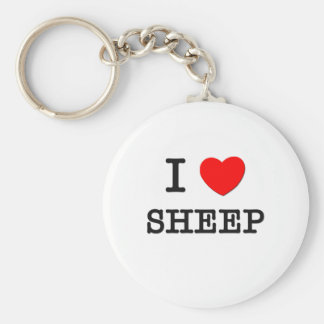 I Love SHEEP Keychain