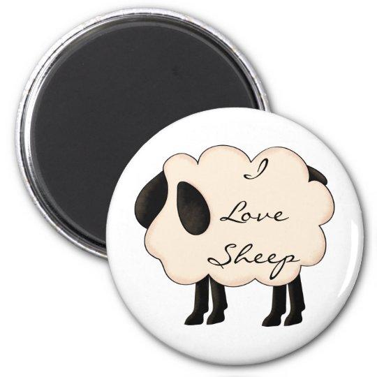 I Love Sheep Magnet