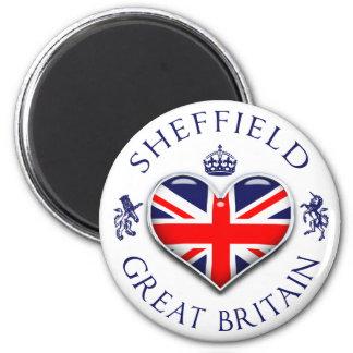 I Love Sheffield 6 Cm Round Magnet