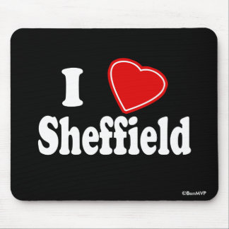 I Love Sheffield Mouse Mat