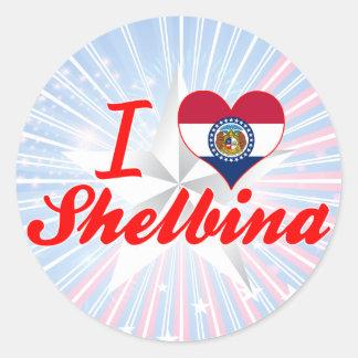I Love Shelbina, Missouri Stickers