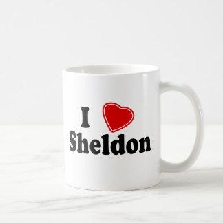 I Love Sheldon Basic White Mug
