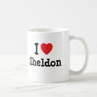 I love Sheldon heart custom personalized Basic White Mug