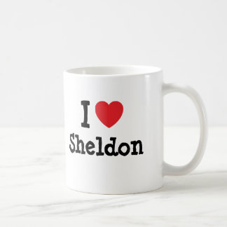 I love Sheldon heart custom personalized Coffee Mug