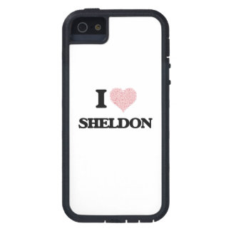 I Love Sheldon (Heart Made from Love words) Case For The iPhone 5