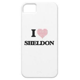 I Love Sheldon (Heart Made from Love words) iPhone 5 Cover