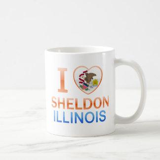 I Love Sheldon, IL Coffee Mug