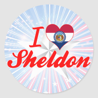 I Love Sheldon Missouri Round Stickers