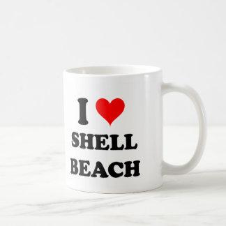 I Love Shell Beach California Mugs