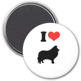 I Love Shelties 7.5 Cm Round Magnet