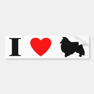 I Love Shelties Bumper Sticker