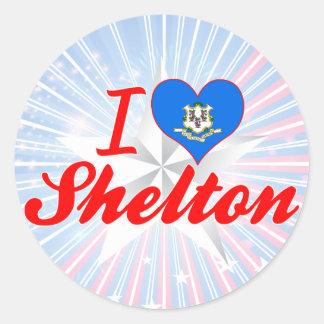 I Love Shelton, Connecticut Round Sticker