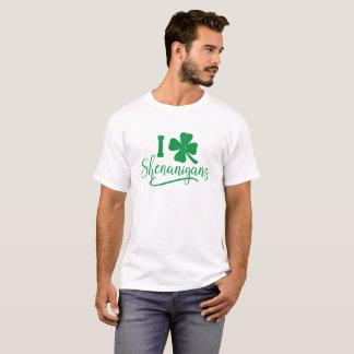 I Love Shenanigans Shirt St. Patrick's Day Irish