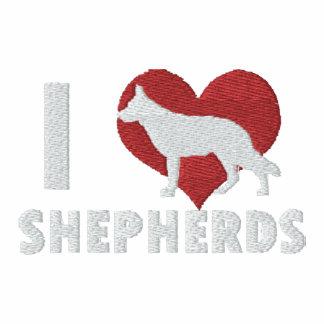 I Love Shepherds Embroidered Shirt (T-Shirt)