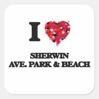 I love Sherwin Ave. Park & Beach Illinois Square Sticker