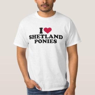 I love shetland ponies t-shirt