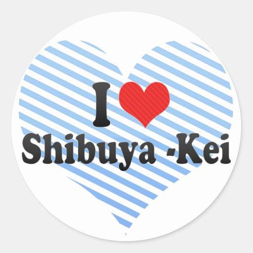 I Love Shibuya -Kei Stickers