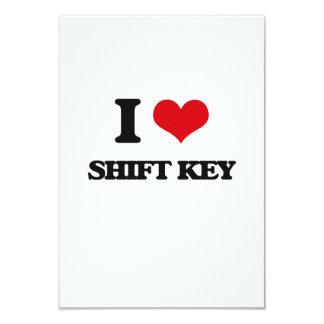 I Love Shift Key 9 Cm X 13 Cm Invitation Card