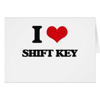 I Love Shift Key Greeting Card