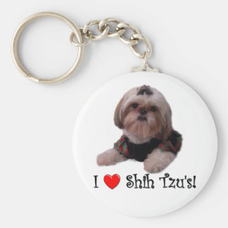 I Love Shih Tzu Key Ring