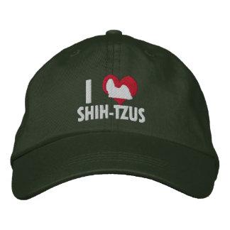 I Love Shih Tzus Dark Baseball Cap