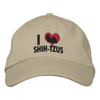 I Love Shih Tzus Embroidered Baseball Cap